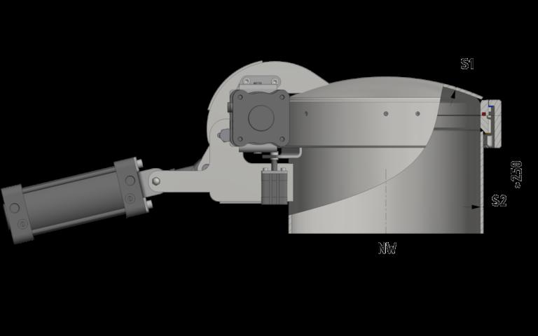 Schnittzeichnung Automatischer Druckverschluss bis 8/-1 bar