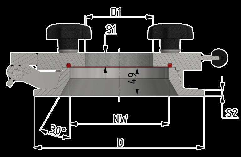 Meta-Flansch-Schauglas bis 10/-1 bar