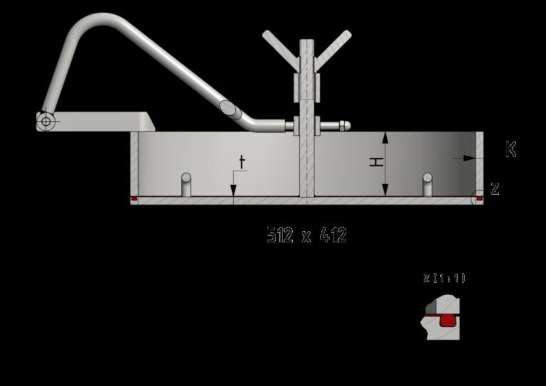 Schnittzeichnung Mannloch-Verschluss 410x510