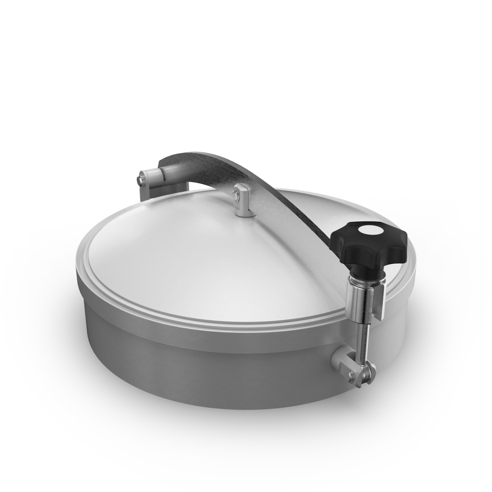 Pressureless Dome-Cover with Crossarm and O-Ring-Gasket