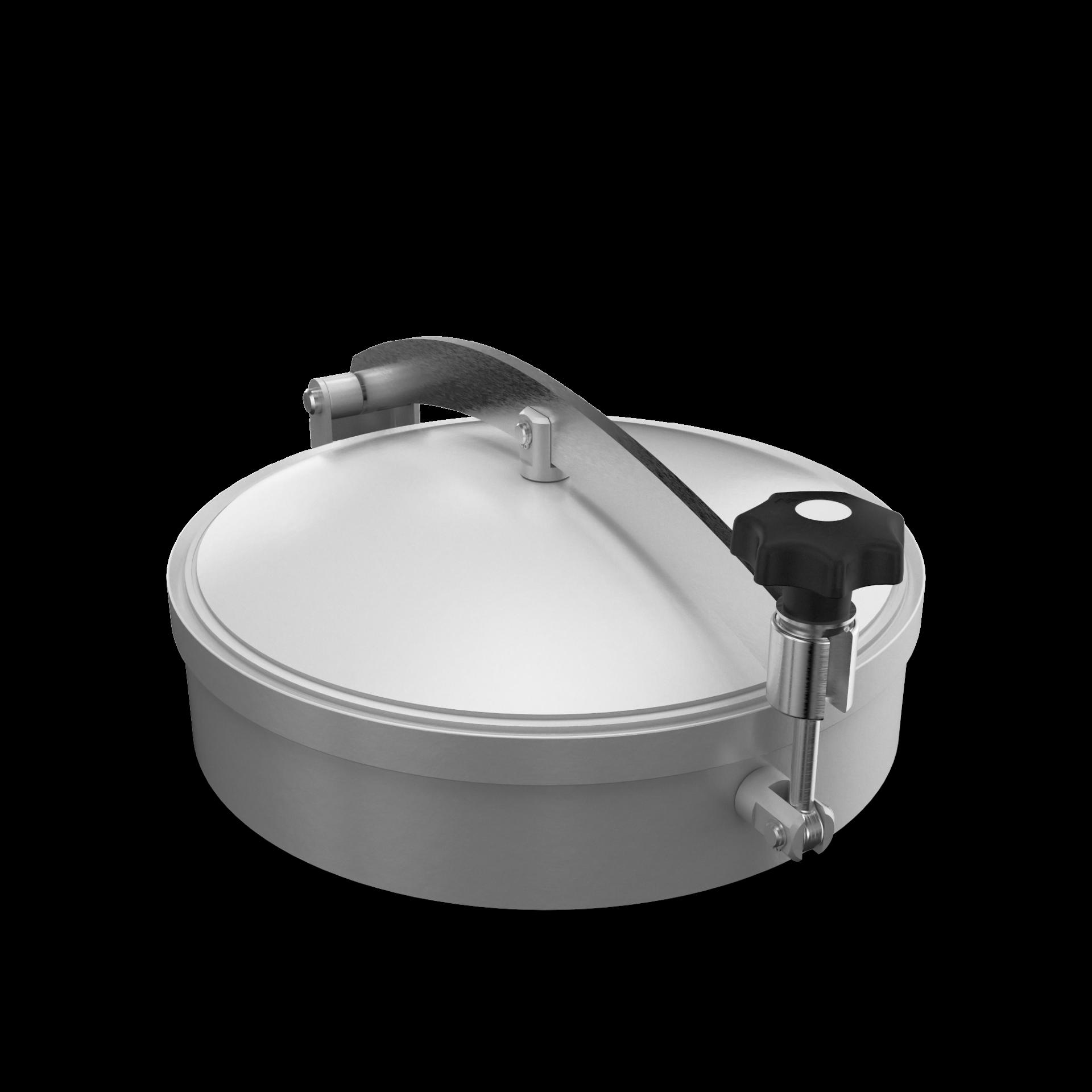 Drucklose Domdeckel mit Zentralbügel und O-Ringdichtung