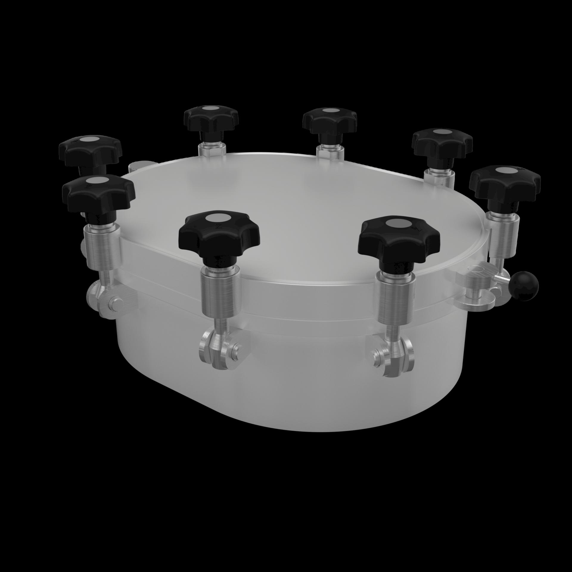 Ovaler Druckverschluss bis 10/-1 bar