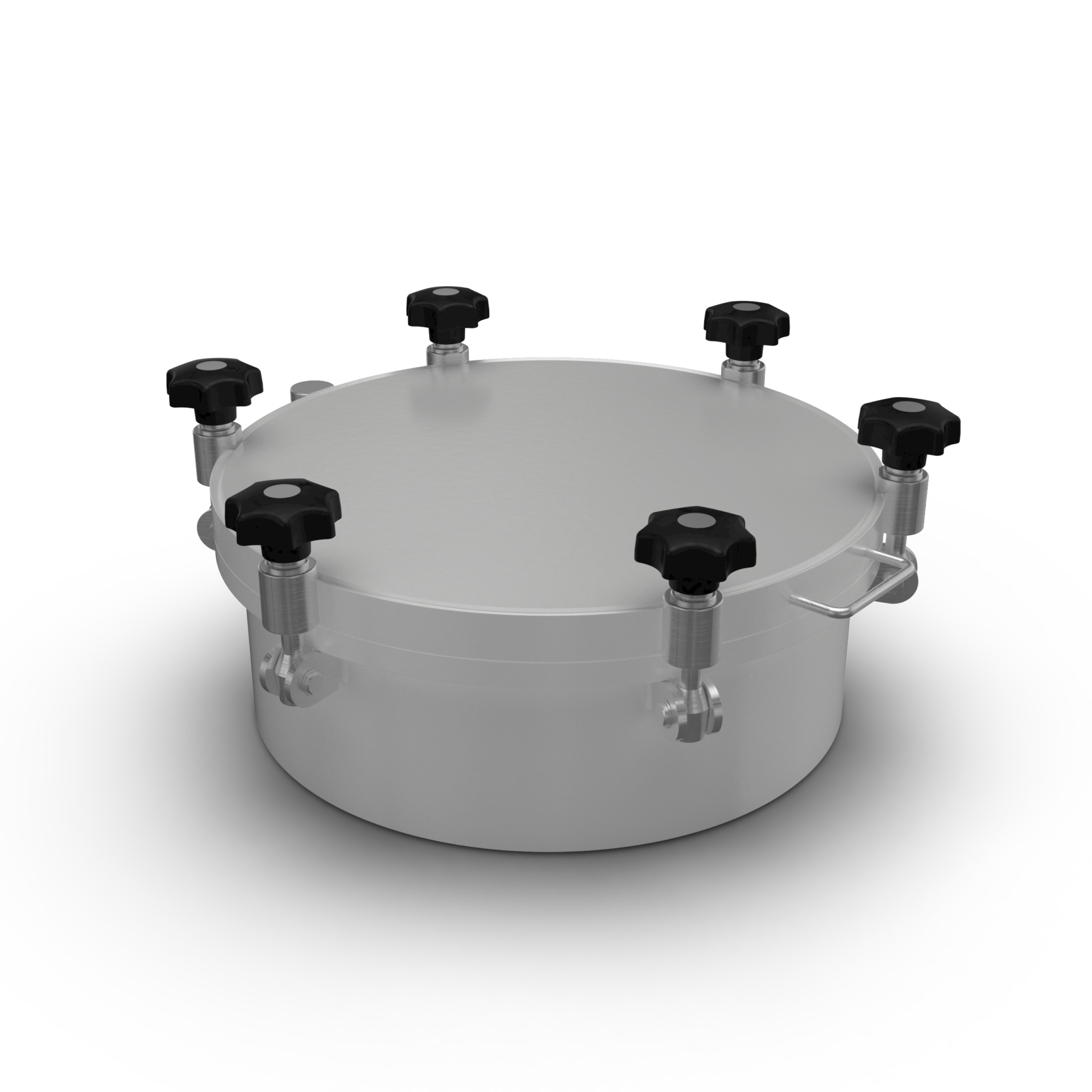 Round Pressure Cover with flat lid up to 8/-1 bar